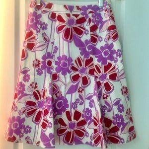 Oilily-esque, Etcetera Cotton/Stretch Floral Skirt